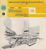 """METRO DE BRUXELLES - """"Anneessens-Bourse"""" - LIGNE 3 (Dépliant 5) - Non Classés"""