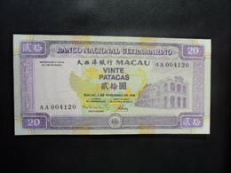 MACAO : 20 PATACAS   1.9.1996    P 66a      NEUF - Macau