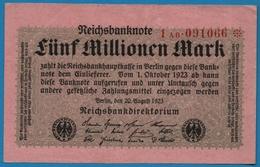 DEUTSCHES REICH 5 Millionen Mark 20.08.1923# 1AB.091066*  P# 105 - [ 3] 1918-1933 : République De Weimar