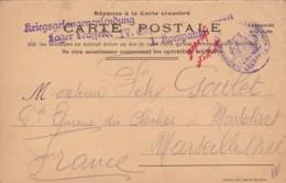 Carte Postale De Correspondance De Camp De Prisonniers De LECHFELD 1914. - Altri