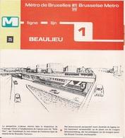 """METRO DE BRUXELLES -"""" Beaulieu"""" - LIGNE 1 (Dépliant 25) - Unclassified"""