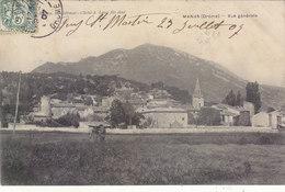 MANAS : T.RARE CLICHE DU VILLAGE VU DES CHAMPS.1907.PETITE ANIMATION.ETAT CORRECT.PETIT PRIX - France