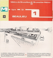 """METRO DE BRUXELLES -"""" Beaulieu"""" - LIGNE 1 (Dépliant 25) - Non Classés"""