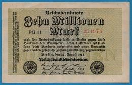 DEUTSCHES REICH 10 Millionen Mark22.08.1923# PG 11  274971 P# 106a - [ 3] 1918-1933: Weimarrepubliek
