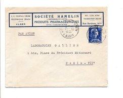 ALGERIE LETTRE A EN TETE DE ALGER  POUR LA FRANCE 1958 - Covers & Documents