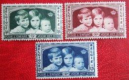KoningsKinderen Child Welfare Complete Set 1935 OBP 404-406 (Mi 396-398) Ongebruikt / MH BELGIE BELGIUM - Nuevos