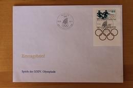 Olympische Sommerspiele 1988, Blockausgabe 9. Aug. 1988; Block 94 - FDC: Briefe