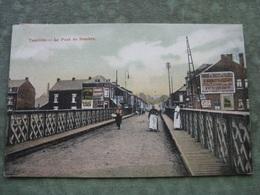 TAMINES - LE PONT DE SAMBRE 1910 ( Colorisée ) - Sambreville