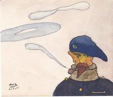 Aquarelle Chasseur Alpin Guerre 1918 - Aquarelles