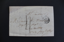 LAC CAD 29/4/49 TYPE 15  DE CHARLEVILLE POUR SIGNY-L'ABBAYE TAXE MANUSCRITE CAD D ARRIVEE AU VERSO.. - 1849-1876: Période Classique