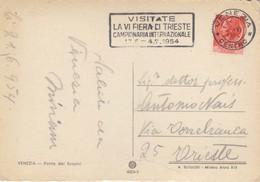 Targhetta - Da Venezia - Visitate La VI Fiera Di Trieste Campionaria Internazionale - 1946-.. République