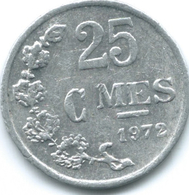 Luxembourg - Jean - 1972 - 25 Centimes - KM45a - Lussemburgo