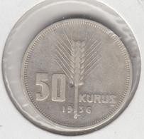 @Y@  Turkije   50  Kurus  1936    (item   4921) - Turkey