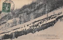 Cauterets (65) -  Sauts Couplés Par Le Lieutenant Smith Et Un Cadet Norvégien - Concours De Ski -  Skis - Cauterets
