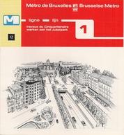 """METRO DE BRUXELLES -"""" Travaux Du Cinquantenaire"""" - LIGNE 1 (Dépliant 12) - Unclassified"""