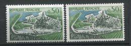 17715 FRANCE N°1314a** (Yvert) 2 Péniches Absentes + Normal (non Fourni)   1961   TB/TTB - Variétés: 1960-69 Neufs