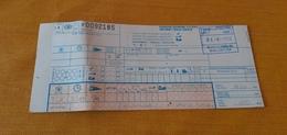 BIGLIETTO TRENO TRANSALPINO DA BRUXELLES  A PARIS 1989WIEN 1989 - Treni