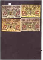 4 NOTGELD DER GEMEINDE GOLDAP OSTPREUSSEN - TB - [11] Local Banknote Issues