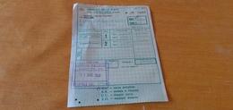 BIGLIETTO TRENO AGENZIA PALLADIO DA VICENZA A PALERMO CENTRALE 1982 - Europe