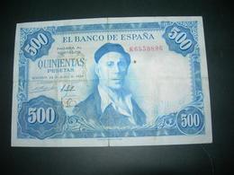 Spagna 500 Pesetas 1954 - [ 3] 1936-1975 : Regency Of Franco