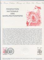 COLLECTION HISTORIQUE DU TIMBRE FRANCAIS...1555  LES SAPEURS POMPIERS - FDC