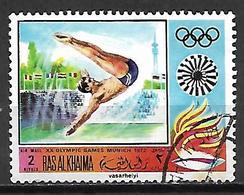 RAS AL KHAIMA    -   1972 . JO De Munich .  Plongeon.   Oblitéré - High Diving