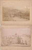 2 Photos Anciennes Guerre 14 18 Balkans - Guerra, Militares