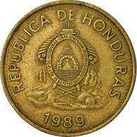Monnaie, Honduras, 5 Centavos, 1989, TTB, Laiton, KM:72.2a - Honduras