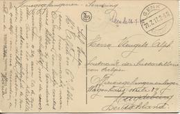 REF1015/ Kriegsgefangenen Sendung CP Anvers Gare Centrale Càp Genk 21/7/17 > PDG-POW Magdeburg Censure Du Camp Vert - Weltkrieg 1914-18