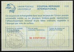 LIECHTENSTEIN La22A  90 CENTIMES International Reply Coupon Reponse Antwortschein IAS IRC O VADUZ 3.1.75 Pdv!  (Zst. 41) - Stamped Stationery
