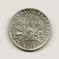 2Fr Semeuse Argent 1915  Très Belle - I. 2 Francs