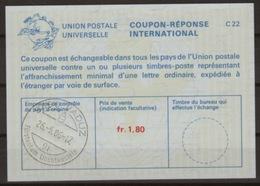 LIECHTENSTEIN La25A Fr. 1,80 International Reply Coupon Reponse Antwortschein IAS IRC O VADUZ 26.5.86 (Zst. 55) - Stamped Stationery