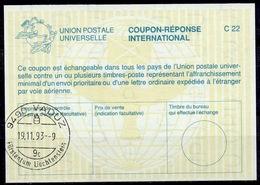 LIECHTENSTEIN La26 International Reply Coupon Reponse Antwortschein IAS IRC O VADUZ 19.11.93 - Stamped Stationery