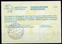 LIECHTENSTEIN La26 International Reply Coupon Reponse Antwortschein IAS IRC O ESCHEN 19.11.93 - Stamped Stationery