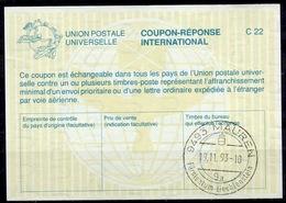 LIECHTENSTEIN La26 International Reply Coupon Reponse Antwortschein IAS IRC O MAUREN 19.11.93 - Stamped Stationery