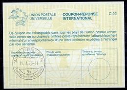 LIECHTENSTEIN La26 International Reply Coupon Reponse Antwortschein IAS IRC O NENDELN 19.11.93 - Stamped Stationery
