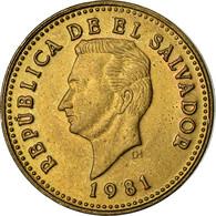 Monnaie, El Salvador, Centavo, 1981, Guatemala City, Guatemala, TB+, Laiton - Salvador