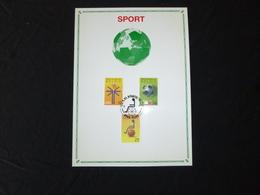 """BELG.1990 2361 2362 1 2363 FILATELIC CARD FDC  : """" SPORT """" - FDC"""