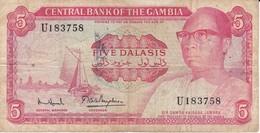 BILLETE DE GAMBIA DE 5 DALASIS DEL AÑO 1972 (BANKNOTE) - Gambie