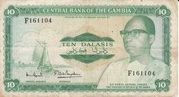 BILLETE DE GAMBIA DE 10 DALASIS DEL AÑO 1972 (BANKNOTE) - Gambie
