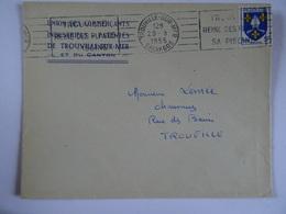 Lettre  14 TROUVILLE SUR MER  1955 UNION DES COMMERCANTS INDUSTRIELS PATENTES - 1921-1960: Modern Tijdperk