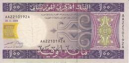 BILLETE DE MAURITANIA DE 100 OUGUIYA DEL AÑO 2004  (BANKNOTE) - Mauritania