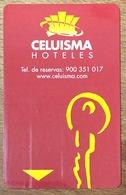 ESPAGNE CELUISMA HOTELES 1 CARTE CLEF D'HOTEL POUR COLLECTIONNEUR PAS TÉLÉCARTE NO TARJETA - Espagne