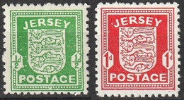 Occupation Allemande De Jersey 1941-42 N° 1-2 MH Armoiries (G1) - Jersey