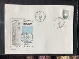 2000 : 100 Ans De L' Observatoire Géomagnétique De L'institut De Géophysique , COB 39 Michel U 39 - Postal Stationery