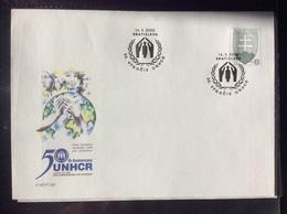 2000 : 50° Anniversaire Du Haut Commissariat Des Réfugiés - UNHCR , COB 40 Michel U 40 - Postal Stationery