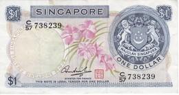 BILLETE DE SINGAPORE DE $1   (BANKNOTE) FLOR-FLOWER - Singapore
