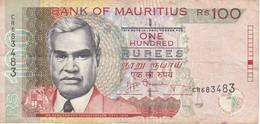 BILLETE DE MAURITIUS DE 100 RUPIAS DEL AÑO 2012  (BANKNOTE) - Maurice