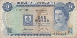 BILLETE DE BERMUDA DE 1 DOLLAR DEL AÑO 1970  (BANKNOTE) - Bermudes