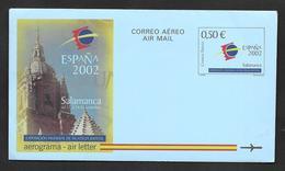 AEROGRAMA 2002 EXPOSICION MUNDIAL DE FILATELIA JUVENIL - Unclassified